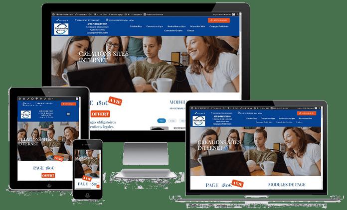 Site responsive design, s'adapte à tous les écrans